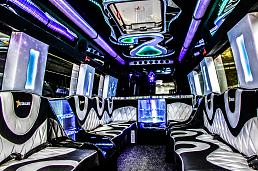 White Starline Party Bus Party Limo Bus / London Borough of Newham, UK   / Hourly £0.00