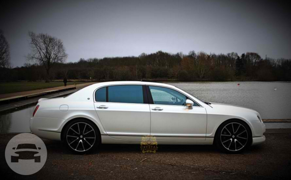White Bentley Continental Flying Spur Sedan / London Borough of Wandsworth, London   / Hourly £0.00