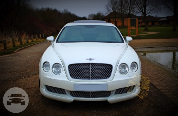 White Bentley Continental Flying Spur Sedan / Reading, UK   / Hourly £0.00
