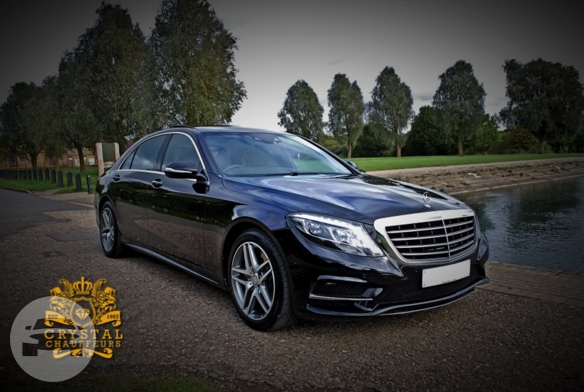 Black Mercedes S Class Sedan  / Bedford, UK   / Hourly £0.00